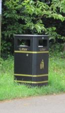 A photo of one of our litter bins